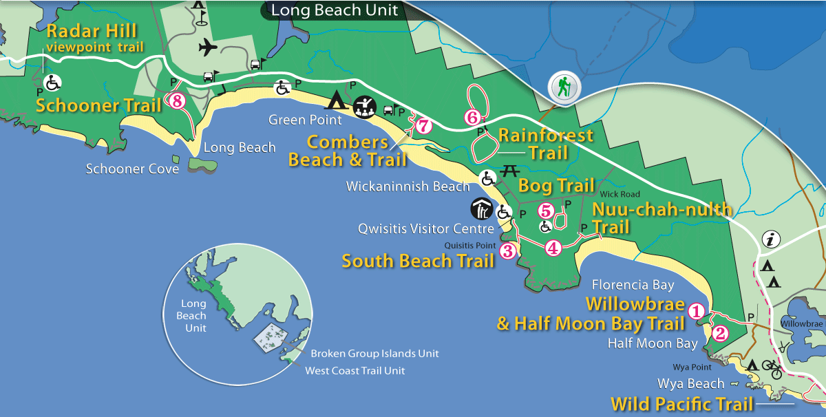 Map of Pacific Rim National Park